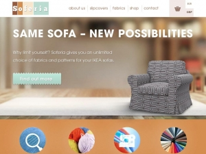 Soferia - unique covers for IKEA sofas